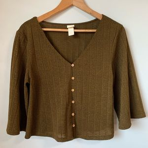 Beautiful H&M OIive Blouse